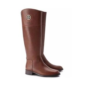 Tory Burch Almond Brown Junction Riding Boots 5.5